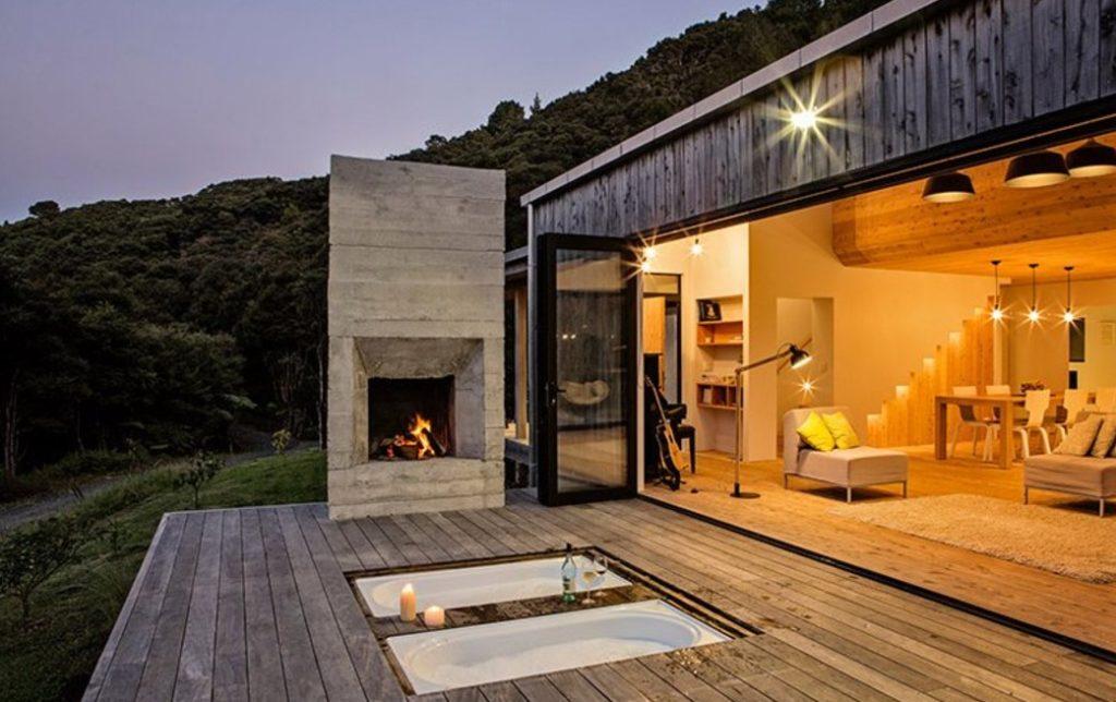 Új-Zéland kunyhó