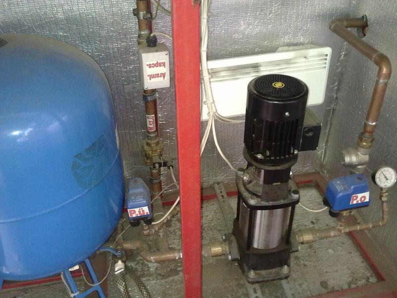 Víztápegység fagymentesített kivitelben